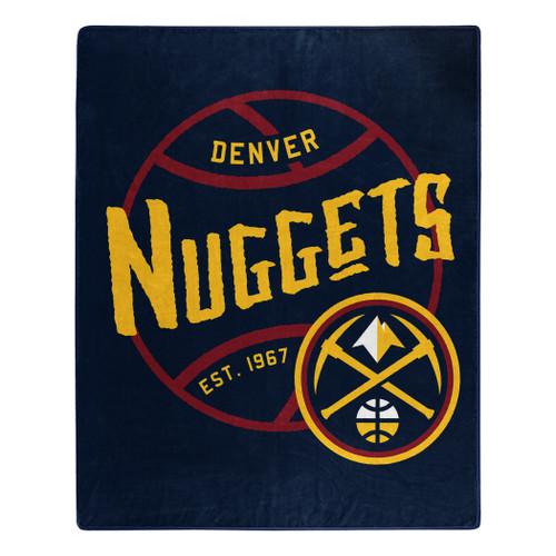 Denver Nuggets Blanket 50x60 Raschel Blacktop Design