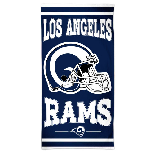 Los Angeles Rams Towel 30x60 Beach Style Blue and White - Special Order
