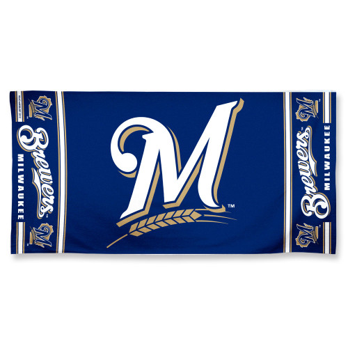 Milwaukee Brewers Towel 30x60 Beach Style - Special Order