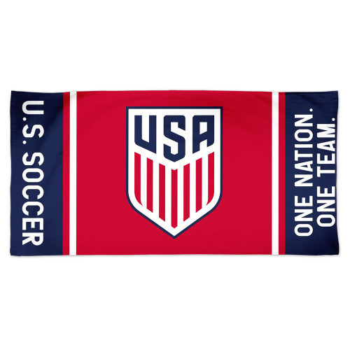 US Soccer National Team Towel 30x60 Beach Style Spectra - Special Order
