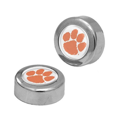 Clemson Tigers Screw Caps Domed Alternate Design - Special Order