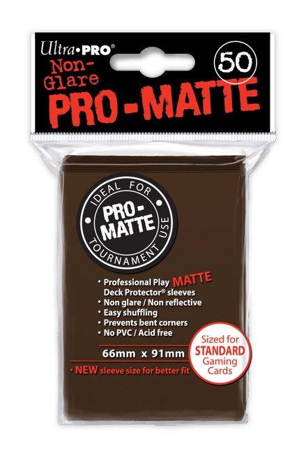 Deck Protectors - Pro-Matte - Brown (One Pack of 50)