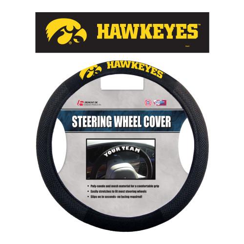 Iowa Hawkeyes Steering Wheel Cover Mesh Style Alternate