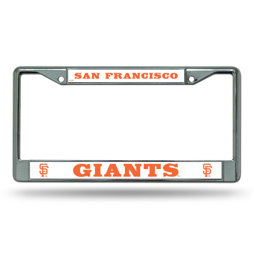 San Francisco Giants License Plate Frame Chrome SF Logo - Special Order