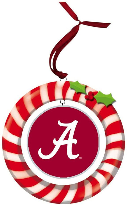 Alabama Crimson Tide Ornament Clay Dough Wreath Design