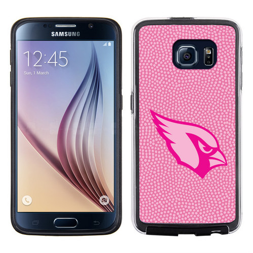Arizona Cardinals Phone Case Pink Football Pebble Grain Feel Samsung Galaxy S6