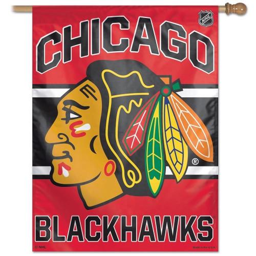 Chicago Blackhawks Banner 27x37 Vertical