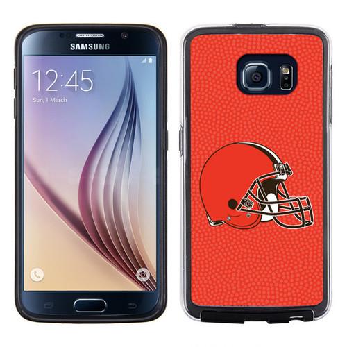 Cleveland Browns Phone Case Team Color Football Pebble Grain Feel Samsung Galaxy S6