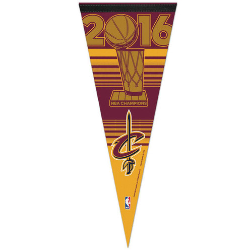 Cleveland Cavaliers Pennant 12x30 Premium Style 2016 Champs Celebration w/o Players Design CO