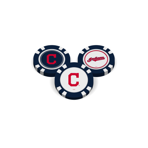 Cleveland Indians Golf Chip with Marker Bulk
