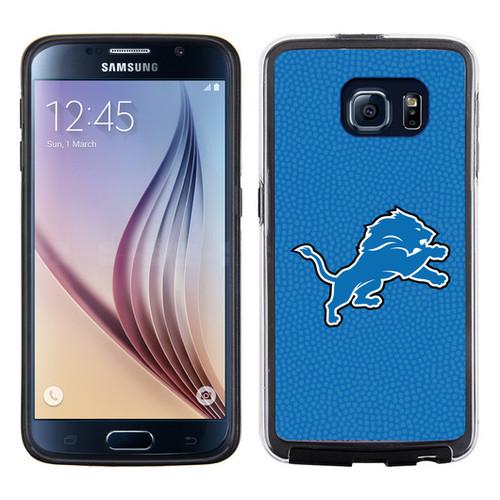 Detroit Lions Phone Case Team Color Football Pebble Grain Feel Samsung Galaxy S6
