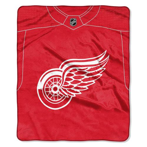 Detroit Red Wings Blanket 50x60 Raschel Jersey Design