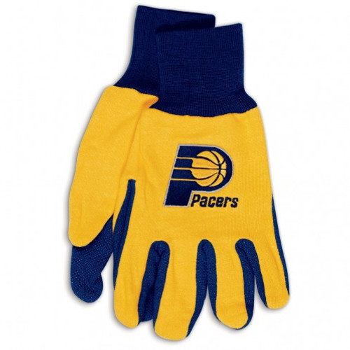 Indiana Pacers Gloves Two Tone Style Adult Size