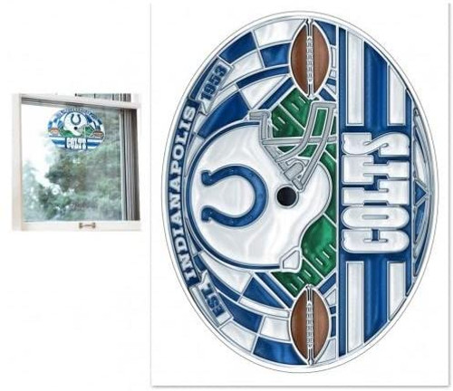 Indianapolis Colts Decal 11x17 Multi Use stained Glass Style