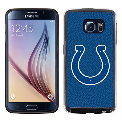 Indianapolis Colts Phone Case Team Color Football Pebble Grain Feel Samsung Galaxy S6