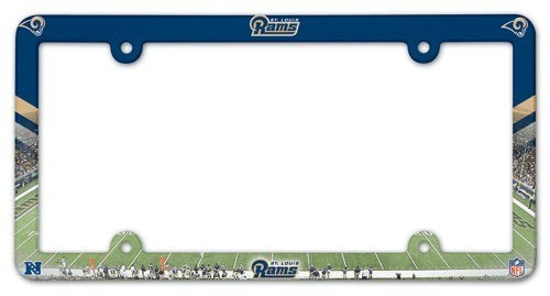 Los Angeles Rams License Plate Frame Full Color Style St. Louis Throwback