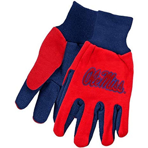 Mississippi Rebels Gloves Two Tone Style Adult Size Size