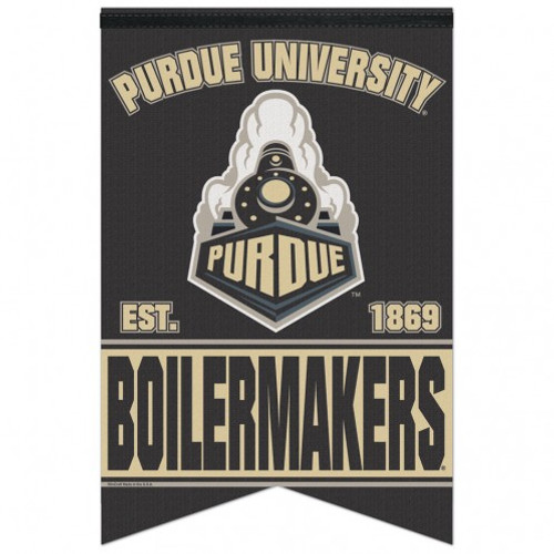 Purdue Boilermakers Banner 17x26 Pennant Style Premium Felt