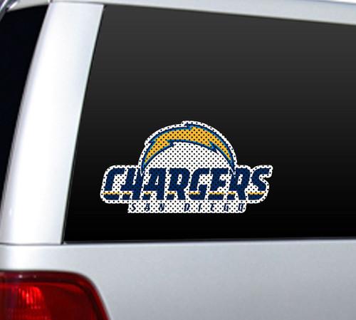San Diego Chargers Die-Cut Window Film - Large -
