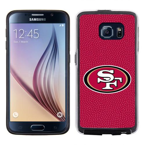 San Francisco 49ers Phone Case Team Color Football Pebble Grain Feel Samsung Galaxy S6