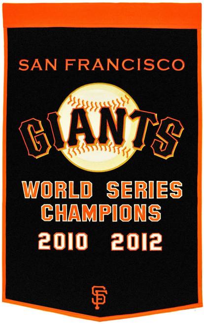 San Francisco Giants Banner 24x36 Wool Dynasty Pre-2012