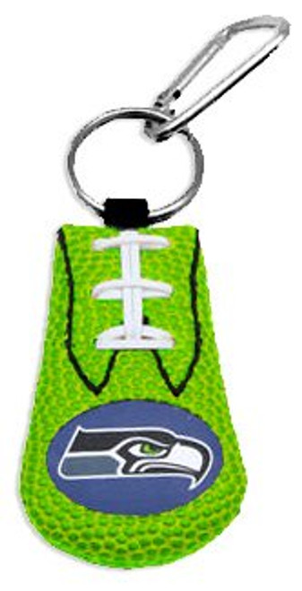 Seattle Seahawks Keychain Team Color Football Green