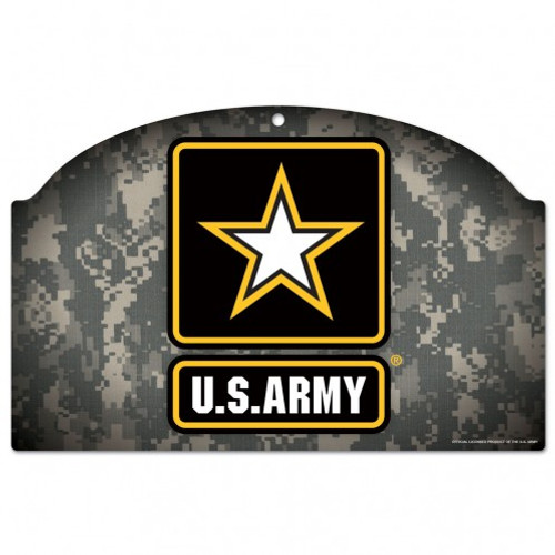 US Army Camo Sign 11x17 Wood