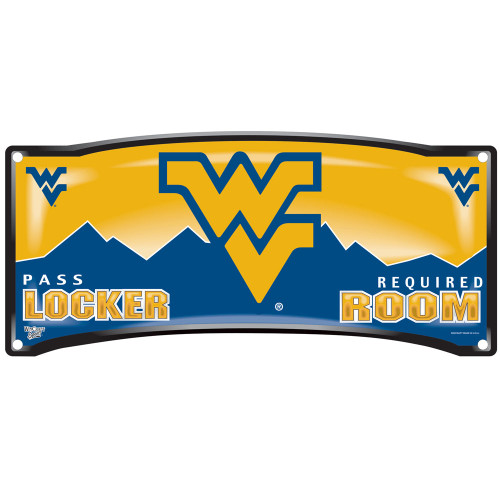 West Virginia Mountaineers Sign 8x19 Plastic Locker Room Style