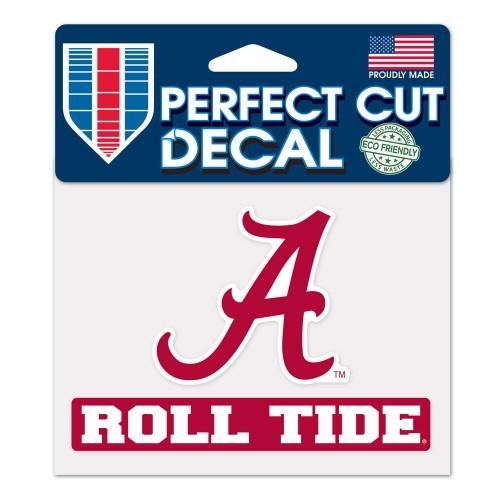 Alabama Crimson Tide Decal 4.5x5.75 Perfect Cut Color Roll Tide Design - Special Order