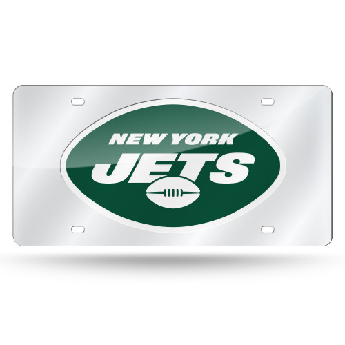 New York Jets License Plate Laser Cut Silver - Special Order