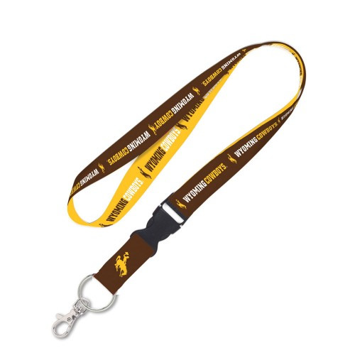 Wyoming Cowboys Lanyard with Detachable Buckle Alternate Design - Special Order
