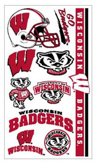 Wisconsin Badgers Temporary Tattoos