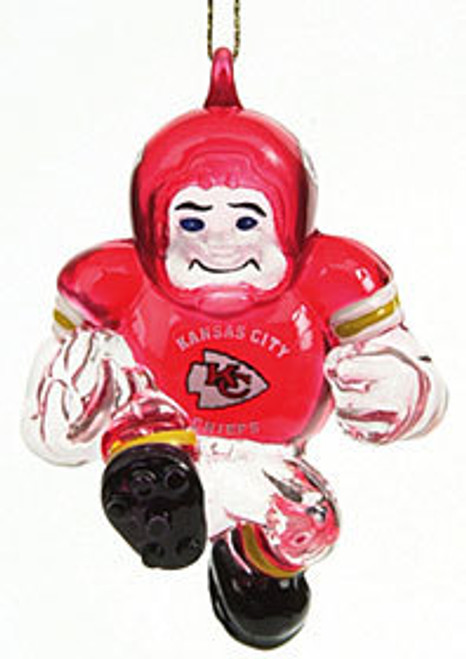 Kansas City Chiefs Ornament 3 Inch Crystal Halfback