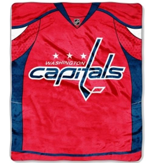 Washington Capitals Blanket 50x60 Raschel Jersey Design