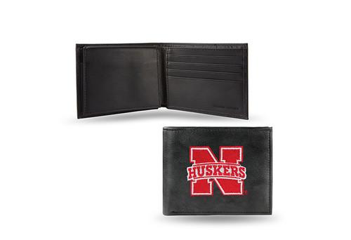 Nebraska Cornhuskers Embroidered Billfold Wallet Script Logo CO
