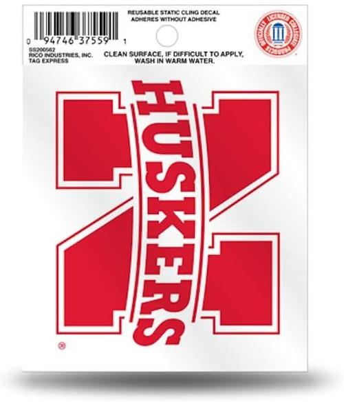 Nebraska Cornhuskers Static Cling - Small (Script Logo)
