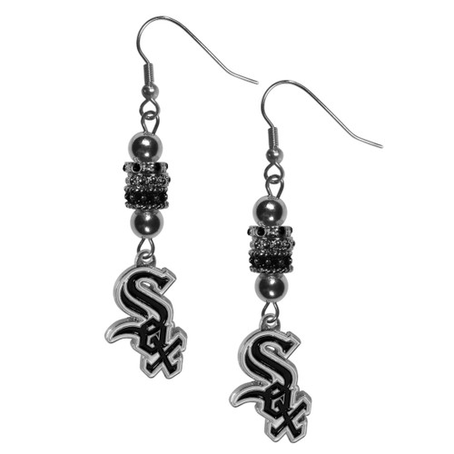Chicago White Sox Earrings Fish Hook Post Euro Style CO