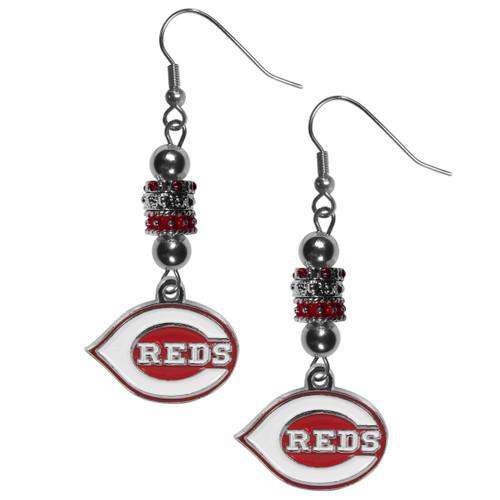 Cincinnati Reds Earrings Fish Hook Post Euro Style CO