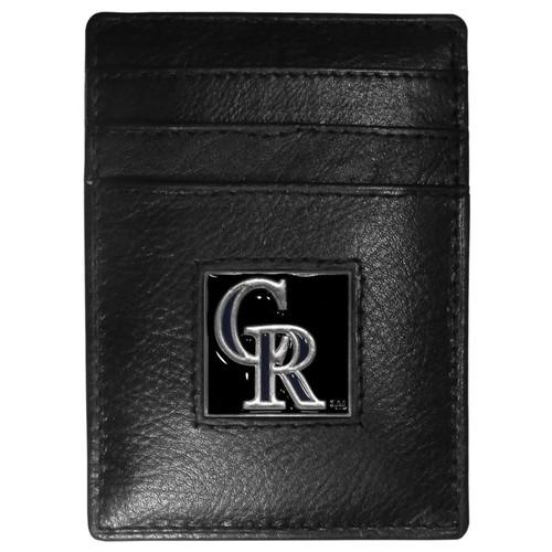 Colorado Rockies Wallet Leather Money Clip Card Holder CO