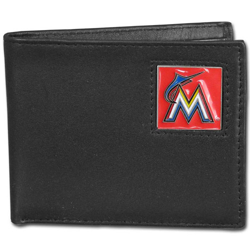 Miami Marlins Wallet Bi-Fold Leather