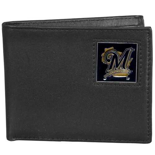 Milwaukee Brewers Wallet Bi-Fold Leather