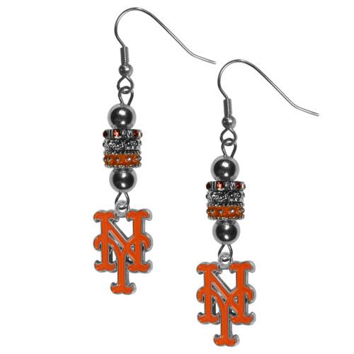New York Mets Earrings Fish Hook Post Euro Style