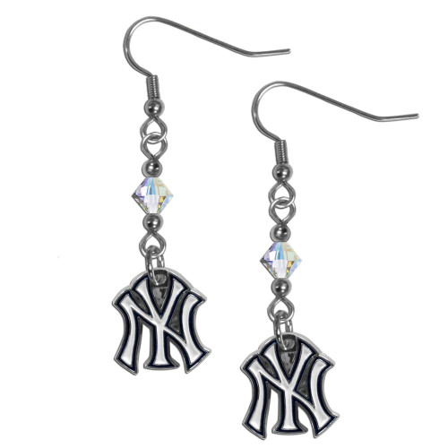 New York Yankees Earrings Fish Hook Post Style