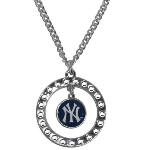 New York Yankees Necklace Chain Rhinestone Hoop