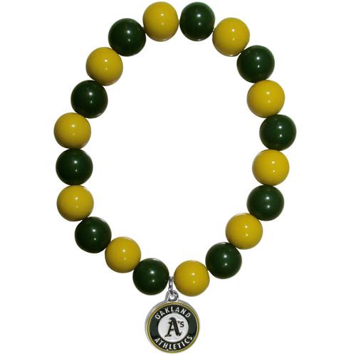 Oakland Athletics Bracelet Bead Style CO