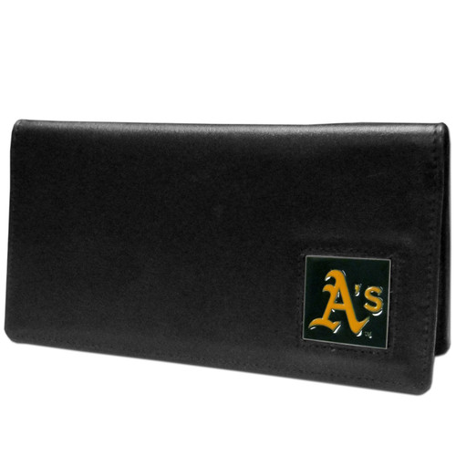 Oakland Athletics Checkbook Cover Leather