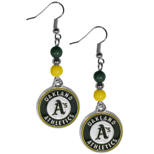 Oakland Athletics Earrings Dangle Style