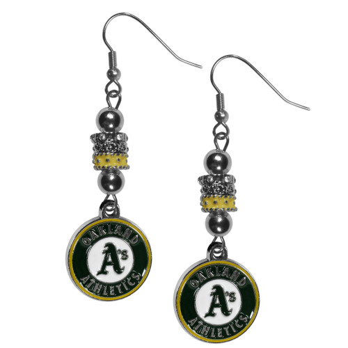 Oakland Athletics Earrings Fish Hook Post Euro Style