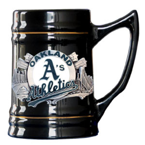 Oakland Athletics Stein 18oz Black