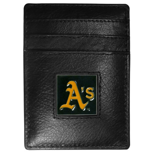 Oakland Athletics Wallet Leather Money Clip Card Holder